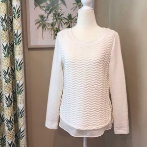 Tart Sweatshirt 2-in-1 Cream Layering Popover Top